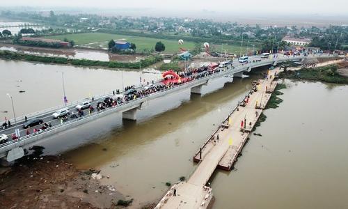 Hải Phòng khánh thành hai cầu nối sông Thái Bình