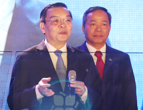 Bộ trưởng Khoa học Công nghệ Chu Ngọc Anh phát biểu tại lễ khỏi động. Ảnh: Võ Hải.