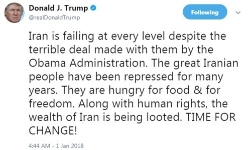 Tổng thống Mỹ Donald Trump nói đã đến lúc thay đổi