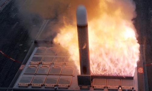 Tên lửa Tomahawk phóng từ bệ VLS Mk 41. Ảnh: USNI.