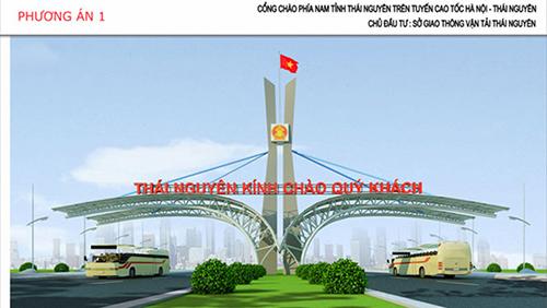 Thiết kế cổng trào phía Nam tỉnh Thái Nguyên được lãnh đạo tỉnh phê duyệt.