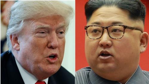 Tổng thống Mỹ Donald Trump và lãnh đạo Triều Tiên Kim Jong-un. Ảnh: AP.