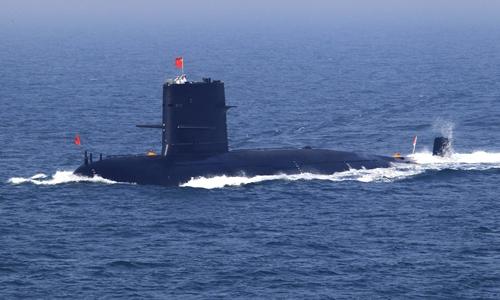 Một tàu ngầm của Trung Quốc. Ảnh: AP.