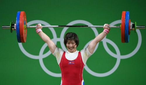 Vận động viên Triều Tiên tại Olympic Rio 2016. Ảnh: AFP.