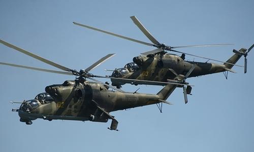 Trực thăng quân sự Nga rơi ở Syria