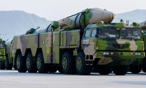 Tên lửa đạn đạo diệt hạm DF-21D của Trung Quốc. Ảnh: SCMP.