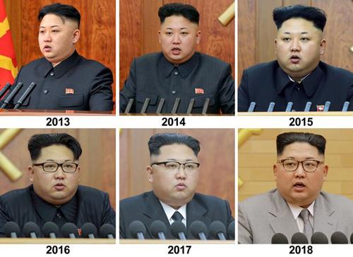 Hình ảnh nhà lãnh đạo Triều Tiên qua các năm. Ảnh: Reuters.