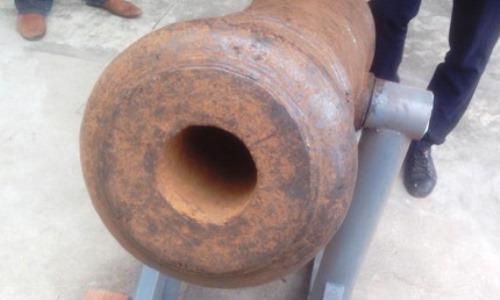 Tìm thấy khẩu pháo thần công ở thương cảng cổ Vân Đồn