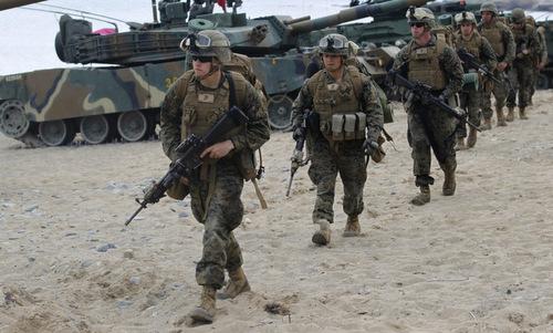 Lính Mỹ triển khai tại Hàn Quốc. Ảnh:IB Times.