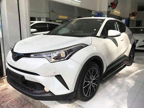 Toyota C-HR tại một showroom ở TP. HCM.