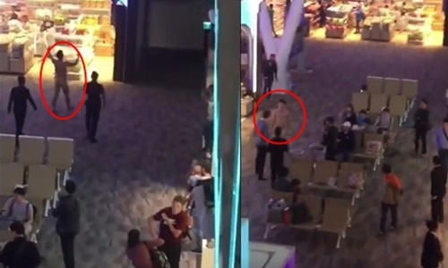 Du khách người Mỹ gốc Hàn Quốc thản nhiên đi lại khỏa thân tại sân bay quốc tế Phuket hôm 4/1. Ảnh cắt từ video.