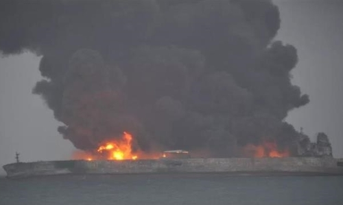 Trung Quốc công bố video tàu chở dầu bốc cháy trên biển