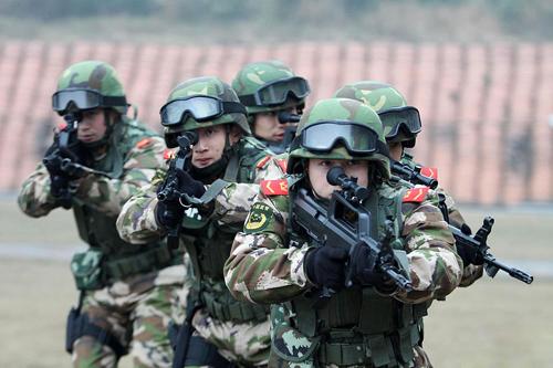 Cảnh sát vũ trang Trung Quốc từng tuân thủ chế độ lãnh đạo kép. Ảnh: Chinanews.