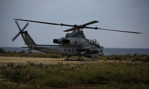 Trực thăng quân sự Mỹ đáp khẩn cấp xuống khách sạn Nhật