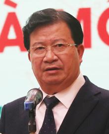 Phó thủ tướng Trịnh Đình Dũng phát biểu sáng 8/1. Ảnh: Võ Hải.
