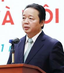 Bộ trưởng Tài nguyên Môi trường Trần Hồng Hà. Ảnh: Võ Hải.
