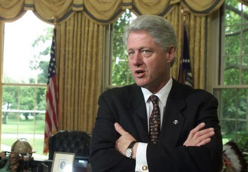 Cựu tổng thống Mỹ Bill Clinton khi còn tại nhiệm. Ảnh:AFP.