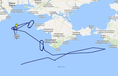 Đường bay gần Crimea của chiếc P-8A Poseidon. Ảnh: Mil Radar.