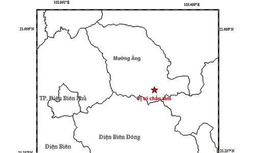 Điện Biên lại động đất 4,3 độ richter