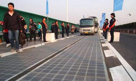Vừa khai trương, đường pin mặt trời Trung Quốc đã bị trộm