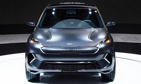 Kia Niro EV concept tại triển lãm công nghệ CES 2018.