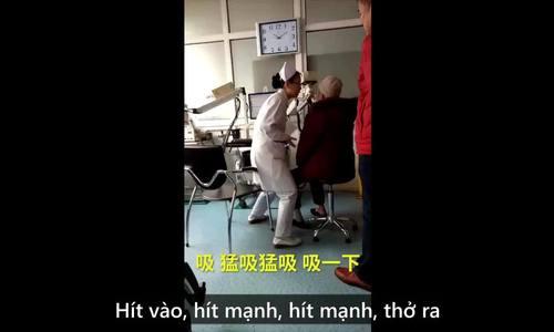 Nữ y tá có giọng hô nổi tiếng Trung Quốc