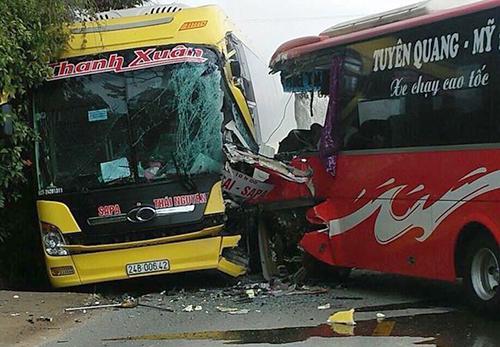 Hiện trường vụ tai nạn. Ảnh: Nguyễn Ngân