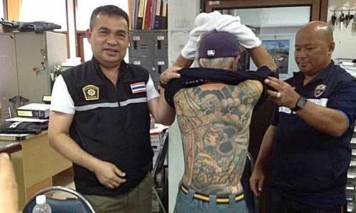 Hình xăm giúp cảnh sát Thái Lan lùng ra mafia Nhật