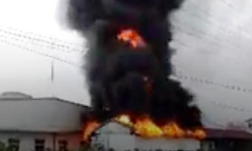 Cháy kho hàng của công ty sản xuất giầy ở Hải Phòng