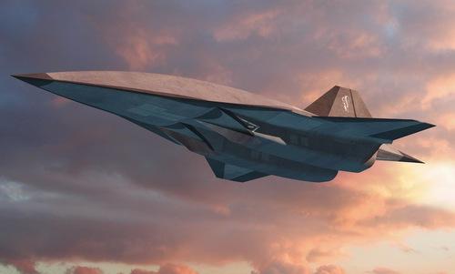 Thiết kế máy bay do thám SR-72. Ảnh: Lockheed Martin.