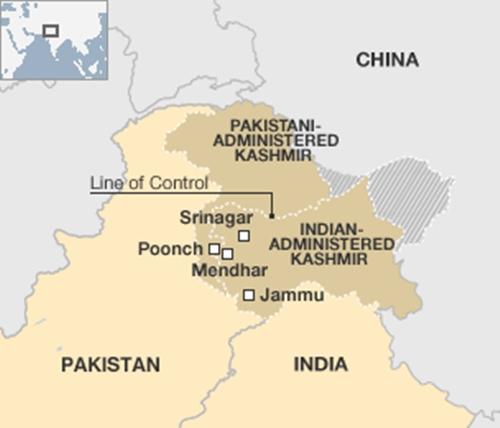 Binh lính Ấn Độ và Pakistan đấu súng ở Kashmir - 1