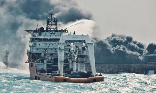 Phát hiện thi thể trên tàu chở dầu cháy ngoài khơi Trung Quốc