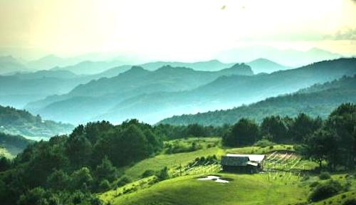 Một góc Vườn quốc gia Phia Oắc - Phia Đén. Ảnh: TTX