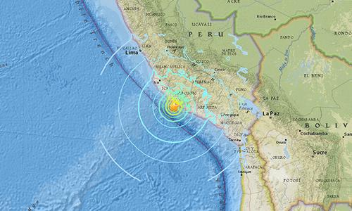 Động đất 7,3 độ ngoài khơi Peru gây cảnh báo sóng thần