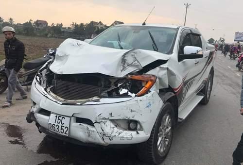Đâm chết hai nữ sinh, tài xế ôtô bán tải bỏ chạy - ảnh 1