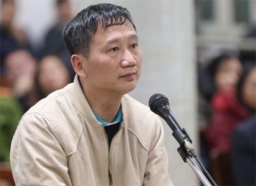 Bị cáo Trịnh Xuân Thanh trong phiên tòa ngày 13/1. Ảnh: TTXVN