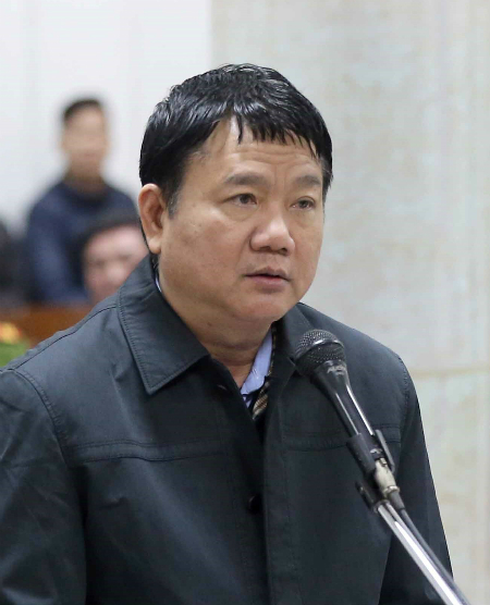 Ông Đinh La Thăng tại phiên toà. Ảnh: TTXVN