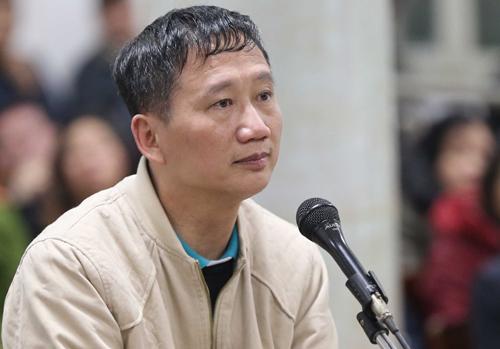 Bị cáo Trịnh Xuân Thanh.Ảnh: TTXVN