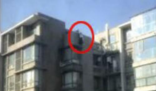Tòa nhà nơi Wang giải cứu người phụ nữ. Ảnh: Qianjiang Evening News