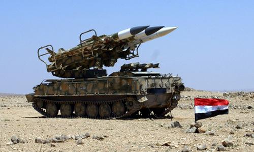 Tên lửa phòng không Syria gần khu vực biên giới với Thổ Nhĩ Kỳ. Ảnh: Southfront.