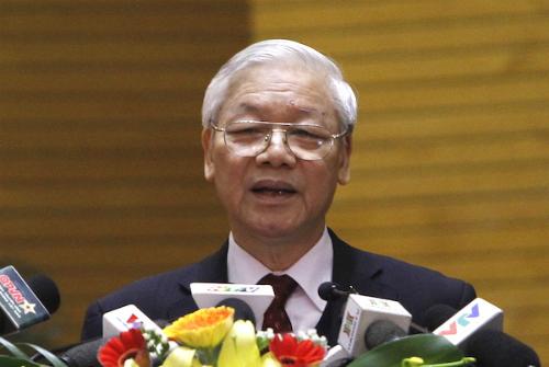 Tổng bí thư Nguyễn Phú Trọng cho rằng chạy chức, chạy quyền còn diễn biến tinh vi. Ảnh: P.V