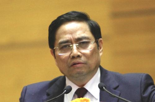 Ông Phạm Minh Chính nói từ đầu khoá đến nay, việc bố trí cán bộ ở Trung ương không có chuyện chạy. Ảnh: P.V