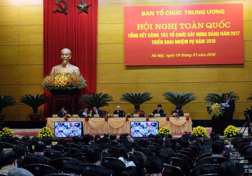Hội nghị tổng kết của Ban tổ chức Trung ương có Tổng bí thư Nguyễn Phú Trọng tham dự. Ảnh: HT
