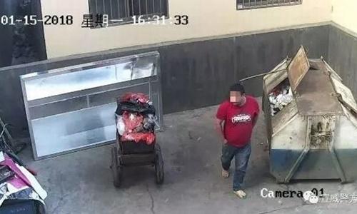 Bé gái mới sinh bị cha bỏ vào thùng rác ở Trung Quốc