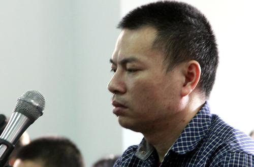 Ông Đặng Văn Hiến tại phiên tòa sơ thẩm. Ảnh: Quốc Thịnh.