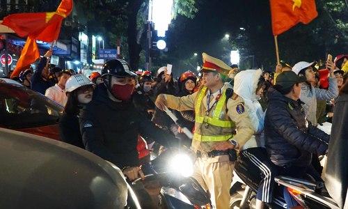 600 cảnh sát Hà Nội ứng trực sau trận U23 Việt Nam - Qatar