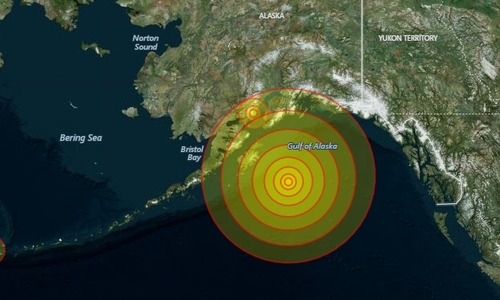 Động đất 8 độ ngoài khơi Alaska gây cảnh báo sóng thần