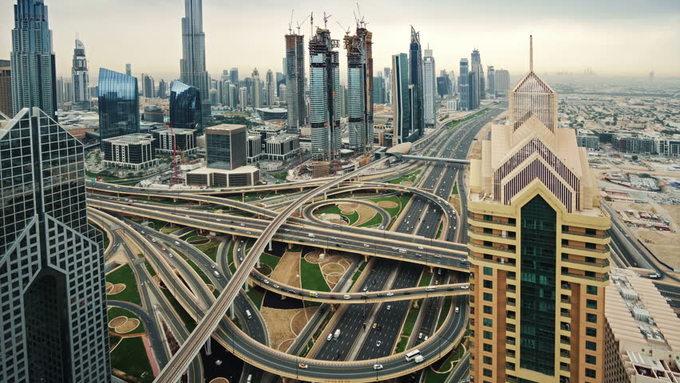 Những giao lộ như mê cung nhìn từ trên cao