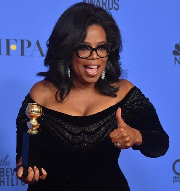 Bà Oprah Winfrey tại lễ trao giải Quả cầu Vàng ở California, Mỹ, ngày 7/1. Ảnh: AFP.