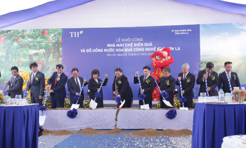 Tập đoàn TH khởi công nhà máy chế biến trái cây 1.200 tỷ đồng